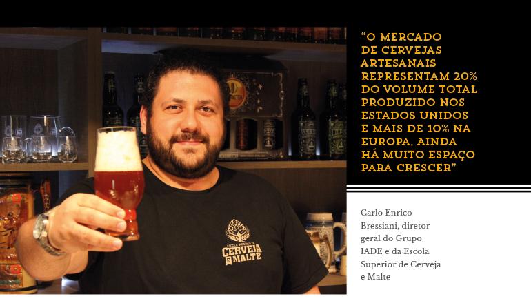 Carlo Enrico Bressiani, diretor geral do Grupo IADE e da Escola Superior de Cerveja e Malte
