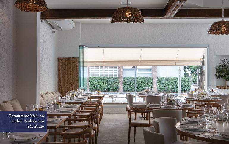 Restaurante Myk, no Jardim Paulista, em São Paulo