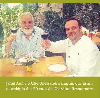 Jamil Aun e Chef Alessandro Lupini Giardino