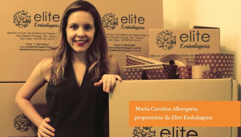 Maria Carolina Albergaria,  proprietária da Elite Embalagens